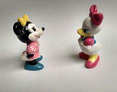Vintage Walt Disney productions Minnie Mouse ,Daisy Duck figurines  Japan