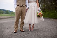 Love this blush pink 1950's inspired wedding dress