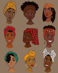 hairstyles grey hairstyles hairstyles afro is a short curly hairstyles hairstyles quotes boy's with curly hair hairstyles for 70 year old woman hairstyles volume Black Girl Art, Black Women Art, Black Art, Black Kids, Art Afro Au Naturel, Mode Turban, Head Turban, Natural Hair Art, Headwraps For Natural Hair