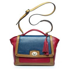 Vibrant and vigorous color blocking handbags    Take a look now >>> http://www.slotanna.com/color-block-calf-leather-messenger-bag-with-    twist-lock-charm---contrast-color-p-1135.html