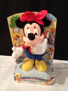 """VINTAGE 1998 marching band HOMETOWN SPIRIT disney MINNIE MOUSE PLUSH doll 14"""""""