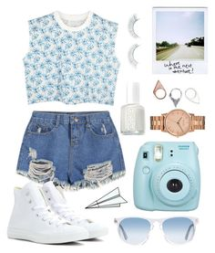 Summer by michelle-schipper on Polyvore featuring polyvore, fashion, style, Converse, Nixon, Monki, Oliver Peoples, Napoleon Perdis, Essie, Plane and clothing