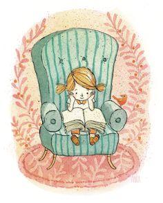 Merienda y cuento, todos los días (ilustración de Marta Bartolj) #biblioteques_UVEG