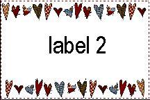 Free quilt labels!