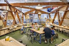The Studio activity area, where kids and families can create simple circuitry and lighting.