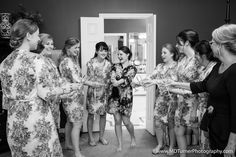 Cute matching robes for bridal party - Houston wedding photography - MD Turner Photography