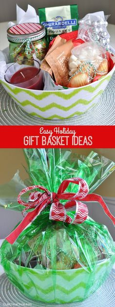 Easy Holiday Gift Basket Ideas + Giveaway | Club Chica Circle - where crafty is contagious/DOESN'T fit in a jar BUT where else to store this idea? Christmas gifts #christmasgifts Holiday gifts