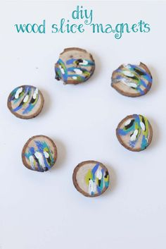 DIY Magnets made from wood slices