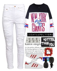 """""""So much hwk this weekend """" by idcmyaa ❤ liked on Polyvore featuring H&M, Forever 21, Kye, adidas Originals, ASOS, DailyLook and Pols Potten"""