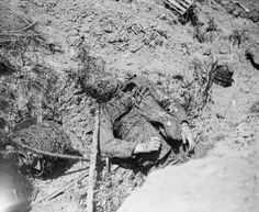 """""""View of German trench just taken."""" 7/4/1918"""