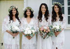 Amelie dresses with an Inca bride = perfection in our books! Grace Loves Lace. www.graceloveslace.com.au