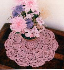Pineapple Doily crochet pattern.  FREE from shadylane.com.