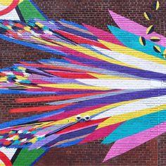 Street art mural, Williamsburg, Brooklyn, New York City.