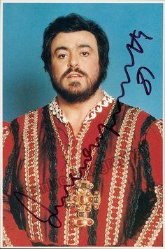 Pavarotti, Luciano - Signed photo in Rigoletto