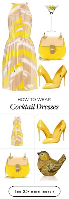 """""""Untitled #616"""" by cardigurl on Polyvore featuring MaxMara, Dolce&Gabbana, Chloé, LSA International and Judith Leiber"""