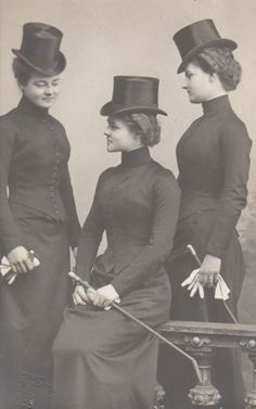 histori, equestrian fashion, 1900, daughters, top hats, princesses, old photos, luxembourg, daughter carolin