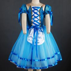 0425209602c73 US $38.7 10% OFF|2018 Girls Customize Ballerina Dress Professional Ballet  Tutu Blue Classic Dance Tutus Adult Romantic Tutu Long Dress BL 17101-in  Ballet ...