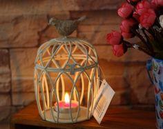 Vintage birdcage candle holder by LovebirdDesign on Etsy, $16.00