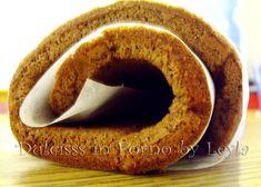 Rotolo di pan di spagna al cioccolato   ricetta base   Dulcisss in forno