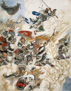 刘继卣工笔画 《大闹天宫》 He is Sun Wukong, the Great Sage Equaling Heaven, who made havoc in Heaven.