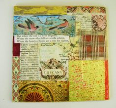 Tuscany   Mixed Media   One of a Kind   Collage  by ArtandBookShop, $50.00