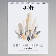 Gem  Mineral Wall Calendar