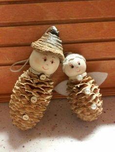 Karácsonyfadísz-termés angyalka és manó (Cs.T.)