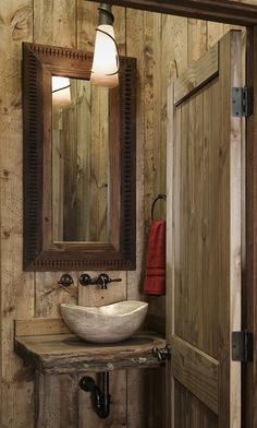 Rustic Powder Room - Find more amazing designs on Zillow Digs!