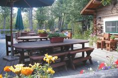 The Patio - CM Ranch, #Wyoming. Dude Ranchers' Association Member