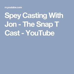 Spey Casting With Jon - The Snap T Cast - YouTube