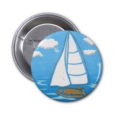 Sailboat Button; Abigail Davidson Art