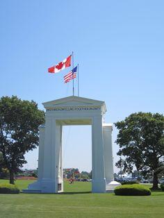 The Peace Arch, Bellingham, Washington, USA/Canada border