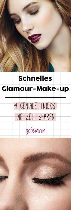 Mit diesen Tricks zaubert ihr euch schnell ein glamouröses Make-up! #makeup #beauty