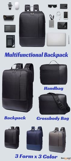 1df502ee4b9a23 US$40.99 + Free shipping.16.5inch Laptop Backpack, Multifunctional Backpack,  Men Nylon