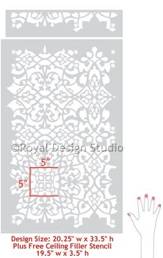 Colorful Moroccan Wall Stencils Large Palace Trellis Stencil