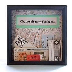 Shadow Box Wall Decor - idea for our road trip so we can plan and dream