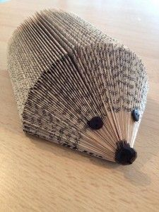 Hedgehog made from a folded book