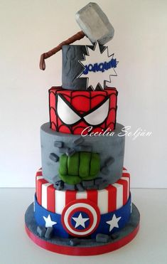 Avengers Cake Cake Boy Visit to grab an amazing super hero shirt