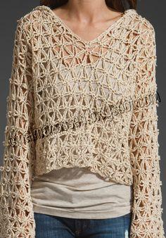 Free People Star Stitch Hoodie in Beige (eggshell) - Lyst Gilet Crochet, Crochet Hoodie, Crochet Cardigan Pattern, Knit Crochet, Crochet Patterns, Crochet Hats, Stitch Hoodie, Cardigan Bebe, Hippie Crochet