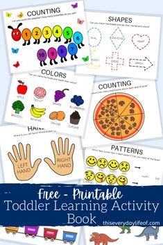 Printable Toddler Learning Activity Book