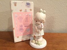 Precious Moments Figurine Loving Girl with by KMSCollectibles