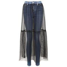 Women's Topshop Jamie Tulle Overlay Skinny Jeans ($90) ❤ liked on Polyvore featuring jeans, skinny jeans, denim skinny jeans, gothic jeans, blue jeans and skinny leg jeans