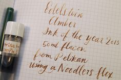 Pelikan Edelstein Amber ink// WANT/NEED this color