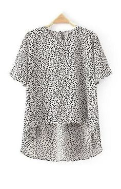 B&W Club Leopard Print Blouse T-Shirt – Trendy Road