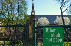 Thou Shalt not Poop