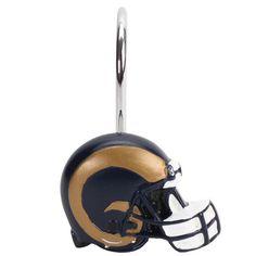 Los Angeles Rams 12-Piece Metal Shower Curtain Rings - $19.99