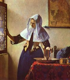 Young Woman with a Water Pitcher, Vermeer,1662