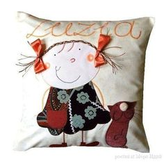 Фотография Kids Pillows, Throw Pillows, Funky Cushions, Sewing Crafts, Sewing Projects, Pillow Inspiration, Contemporary Fabric, Flower Pillow, Pillow Fight