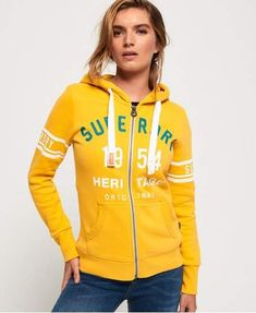 Neuer Damen Superdry Leichte Track and Field Kapuzenjacke City Mint