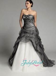 White Gothic Wedding Dresses | JW13259-gothic-black-and-white-ballgown-wedding-dress-tulle-gowns.jpg